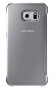 Etui Clear View Cover Galaxy S6 argent